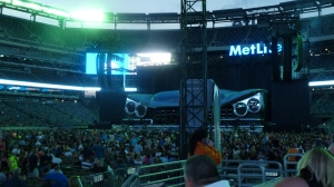 View of stage at Met Life Stadium, New Jersey 2013